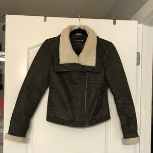 Forever 21 Shearling and Suede Jacket, Small